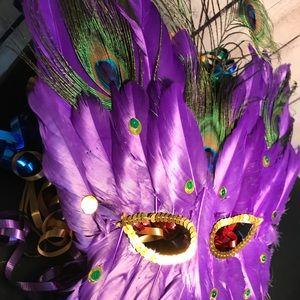 Accessories - Butterfly Peacock Feather Mask